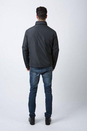 Демисезонная мужская КУРТКА-ТРАНСФОРМЕР Hermzi с ПОТАЙНЫМ КАПЮШОНОМ и СЪЕМНОЙ ПОДСТЕЖКОЙ, цвет Темно-синий и Темно-серый