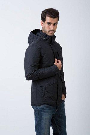 Демисезонная мужская куртка С КАПЮШОНОМ Hermzi, цвет Темно-синий