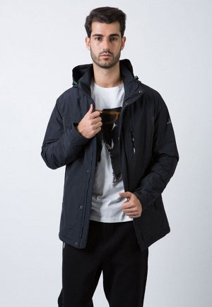 Демисезонная СПОРТИВНАЯ мужская куртка с капюшоном Hermzi, цвет Темно-синий