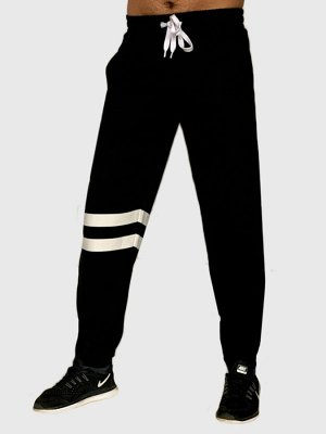 Мужские спортивные штаны JEANS by Buffalo с карманами – прямые штанины, резинка внизу плотно обхватывает щиколотки №1512