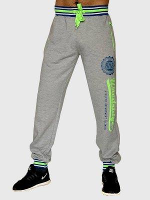 Серые спортивные штаны FSBN на резинке – такой цвет проще всего комбинировать с другой одеждой, подходит всё №1507
