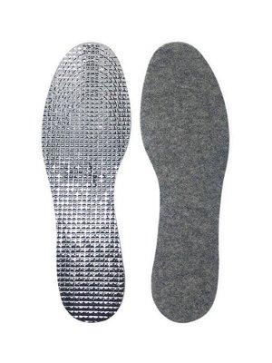 Стельки-термос зимние шерстяные с фольгированным слоем для удержания тепла