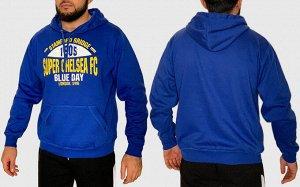 Спортивная мужская толстовка Chelsea – фирменные цвета, узнаваемый лого, карман-кенгуру №138