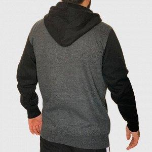 Комбинированная мужская кофта-толстовка Vissla – серо-черный микс в приоритете у парней всех возрастов №93