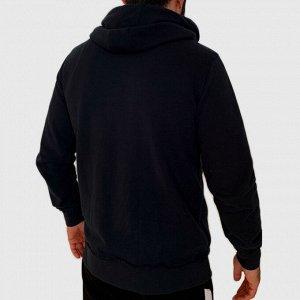 Фирменная мужская толстовка на молнии от Creeks – гранж-акценты в виде аппликации и растрепанных ниток №92