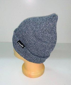 Шапка Крутая шапка цвета серый меланж  №1549
