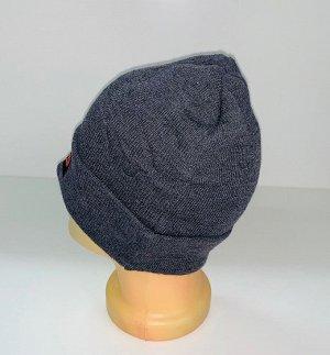 Шапка Брендовая серая шапка  №1552