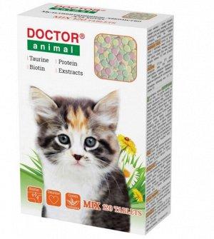 Мультивитаминное лакомство DOCTOR Animal МIХ для котят 120 табл
