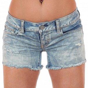 Светлые джинсовые шорты с дырками - секси модель из коллекции «самаотсебякайфую» №242 ОСТАТКИ СЛАДКИ!!!!