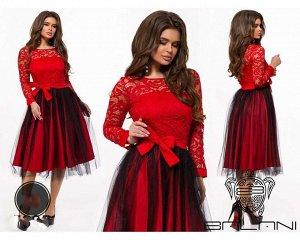 Платье вечерние платья из гипюра с подкладом и сеткой. Длина: 98-100 см.
