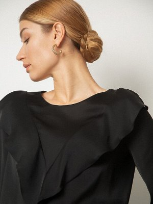 Однотонная блузка B2554/ivory