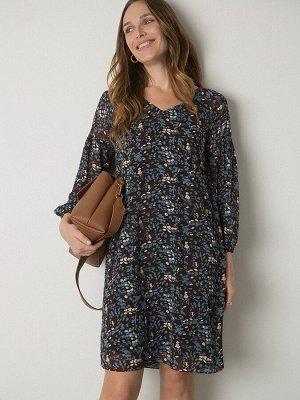 Шифоновое платье с принтом PL1070/howes