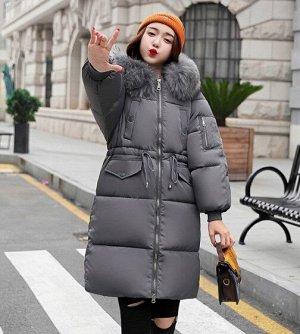 Женская  куртка, цвет темно-серый