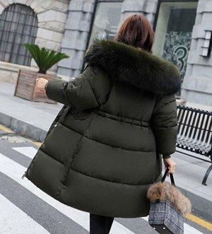 Женская  куртка, цвет зеленый