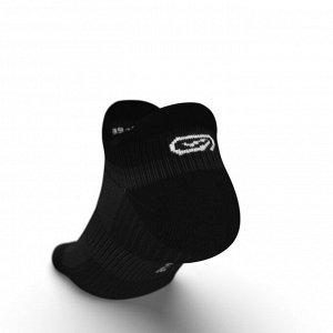 Носки для бега заниженные comfort invisible 2 пары черные kiprun