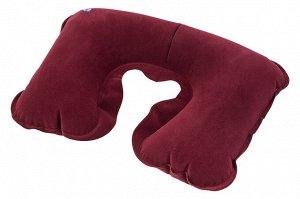 """Подушка для путешествий 43*27*0,1 см """"Бордовая"""""""