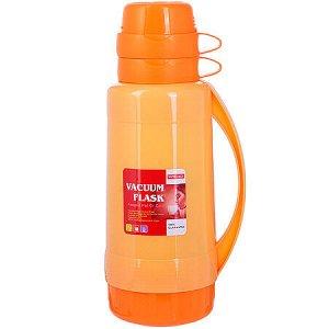 29956 Термос 1,8 литра стек. колба Оранжев,МВ(х12)
