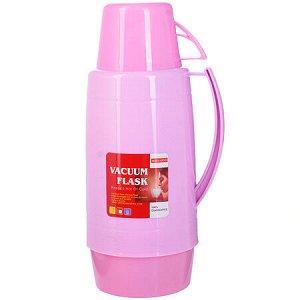 29955 Термос 1,8 литра стек, колба Розовый МВ (х12)