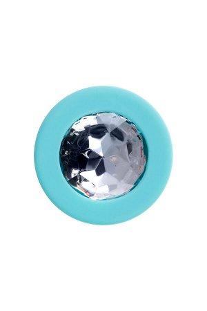 Анальная втулка ToDo by Toyfa Brilliant, водонепроницаемая, силикон, мятная, 8 см, ? 3 см