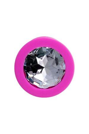Анальная втулка ToDo by Toyfa Brilliant, водонепроницаемая, силикон, розовая, 7 см, ? 2 см
