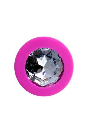 Анальная втулка ToDo by Toyfa Brilliant, водонепроницаемая, силикон, розовая, 8 см, ? 3 см