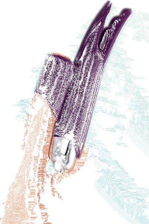 Вибронасадка на палец JOS Tessy для прелюдий, силикон, фиолетовый, 9,5 см