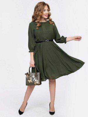 Платье Шифоновое Шарм (олива)