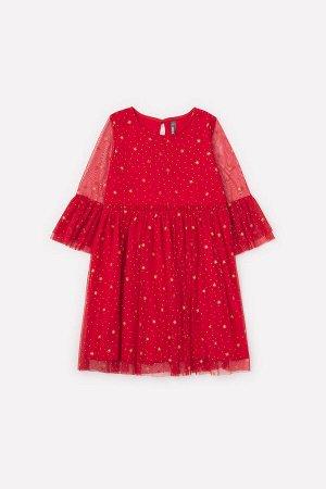 Платье Цвет: насыщенно-красный; Вид изделия: Трикотажные изделия; Полотно: Супрем; Рисунок: насыщенно-красный; Сезон: Осень-Зима; Коллекция: Новый год Нарядное платье из хлопкового полотна. Верхний с