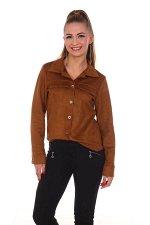 Рубашка женская, коричневый