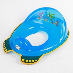 Детская накладка - сиденье на унитаз «Аква» антискользящая, цвет голубой