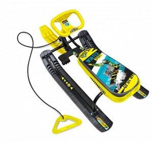 Снегокат Тимка спорт 2  Winter sport, желто/черный ТС2/С2 (1/2)