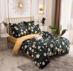 Комплект постельного белья Сатин Вышивка на резинке CNR141