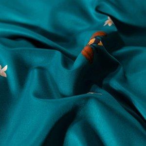 Комплект постельного белья Сатин Роял Тенсель на резинке TSR012