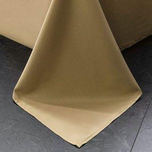 Комплект постельного белья Сатин Роял Тенсель на резинке TSR006 2 спальный 4 наволочки