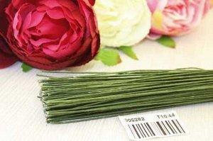 Проволока флористическая тейп (зеленый), 0,9мм*600мм, упак.0,5кг