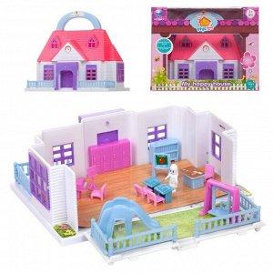 Дом кукольный складной, с мебелью и человечками144
