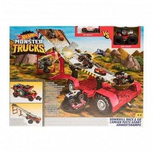 Игровой набор Mattel Hot Wheels Монстр трак Передвижной трамплин3