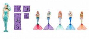 Игровой набор Mattel Barbie Мода Волна 4, Кукла-русалка с аксессуарами в непрозрачной упаковке (сюрприз)51