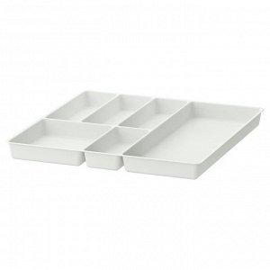 STÖDJA СТОДЬЯ Лоток для столовых приборов, белый51x50 см
