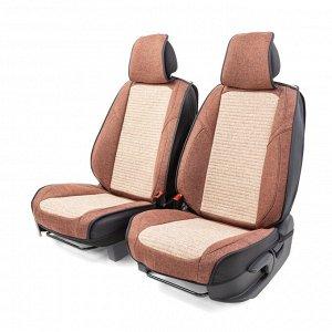 "Каркасные 3D накидки на передние сиденья ""Car Performance"", 2 шт., fiberflax CUS-3024 COFFEE/BE"