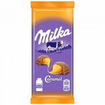 Шоколад Милка Milka с карамельной начинкой, 90г
