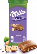 Шоколад Милка Milka Молочный с фундуком 90г