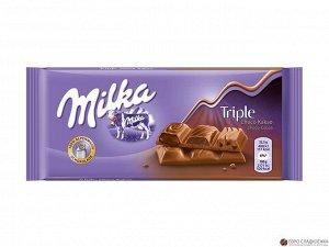 Шоколад Милка Milka Triple Cacao, 90 г