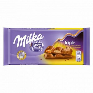 Шоколад Милка Milka Triple Caramel, 90 г