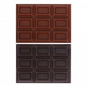 "ЮниLook Зеркало складное с расческой ""Шоколад"", 11,8х8,2х1см, пластик"