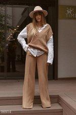Шерстяные брюки-палаццо