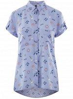 Блузка из вискозы с нагрудными карманами