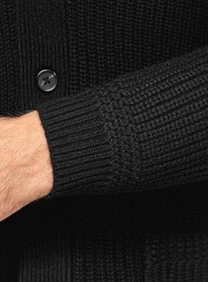 Кардиган вязаный с накладными карманами