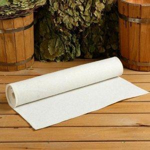 """Коврик для бани и сауны """"Царский размер"""", 160?50 см, белый"""