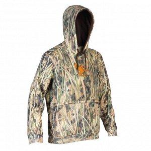 Толстовка для охоты с капюшоном камуфляжная 500 SOLOGNAC